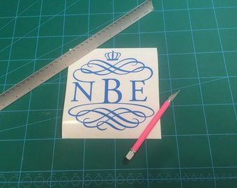 Royal monogram for your car, cooler, window or any thing else! Vinyl Decal