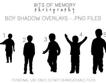 Shadow children overlays (boys)