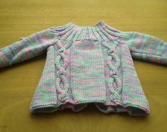 Cable twist cardigan to fit 3-6 months