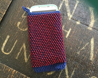 Fire and water beaded phone case