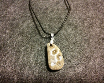 Natural Petoskey Stone Pendant