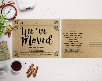 PaperKraft Moving Announcements Card Template