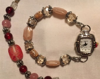 Changeable Beaded Watch, Interchangeable Watch, Bead Bracelet Watch