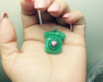 Rotary phone charm, so cute!