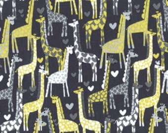 Michael Miller Giraffe Love Gray - Fabric by the Yard