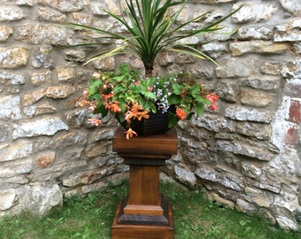 Plant stand Wooden planters, Garden planter, Outdoor Planters (Free Delivery)