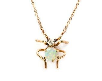 Antique Victorian Spider Necklace