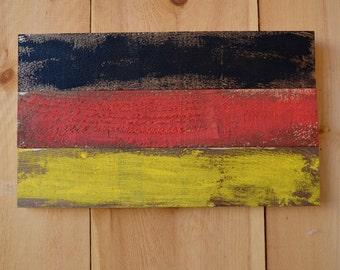 Rustic German Flag