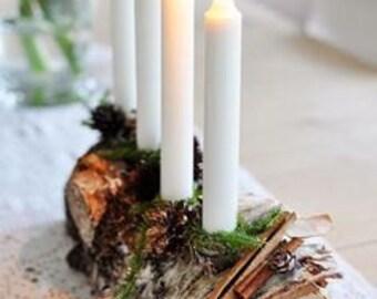 Wooden Candlestick holder