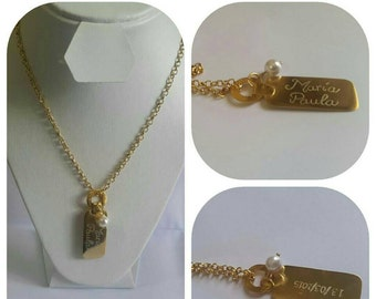 Chain personalized with ombre and date, where face