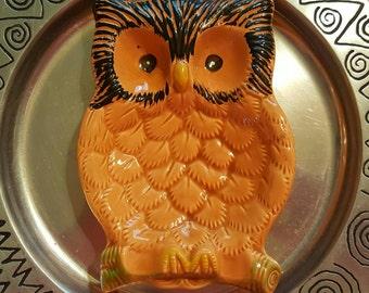 Owl vintage decorative dish, ceramic dish