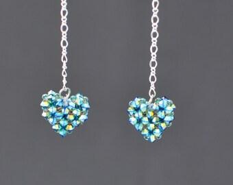 K3 Swarovski Rainbow crystal earrings
