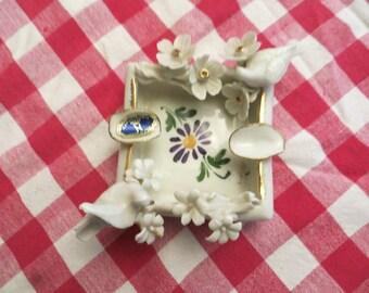 CAPODIMONTE Porcelain Ashtray