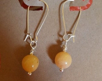 HandCrafted Earrings - Tangerine drop