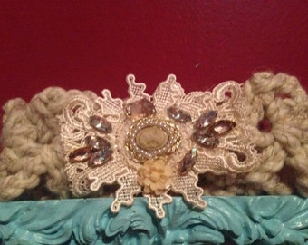 Victorian Silhouette Baby/Infant Crocheted Headband