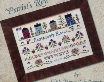 Patriots Row by Little House Needleworks Counted Cross Stitch Pattern/Chart