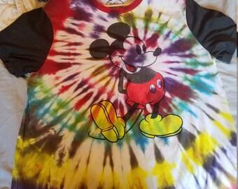 Mickey Mouse Tie Dye T Shirt XXL