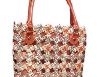 Unique Handbag Made Of Used Instant Coffee Sachets