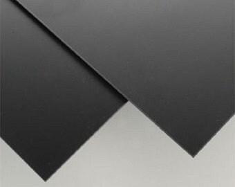 "BLACK  Polystyrene  Plastic Sheet - 24"" X 24"" - .030"" Thick - Printing crafs models"