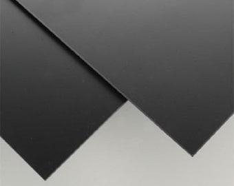 "BLACK  Polystyrene  Plastic Sheet - 24"" X 24"" -  .040"" Thick - Printing crafs models"