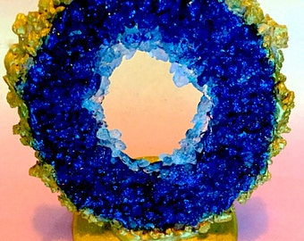 Edible Geode Cake Topper Large, Geode Candy, Geode Decoration, Wedding Topper, Crystal Candy, Cake Decoration, Crystals