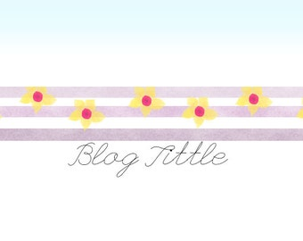 Premade Blog Header