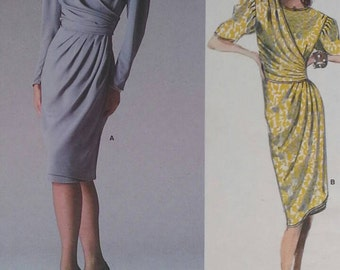 1980s Vogue Emanuel Ungaro dress pattern #1834