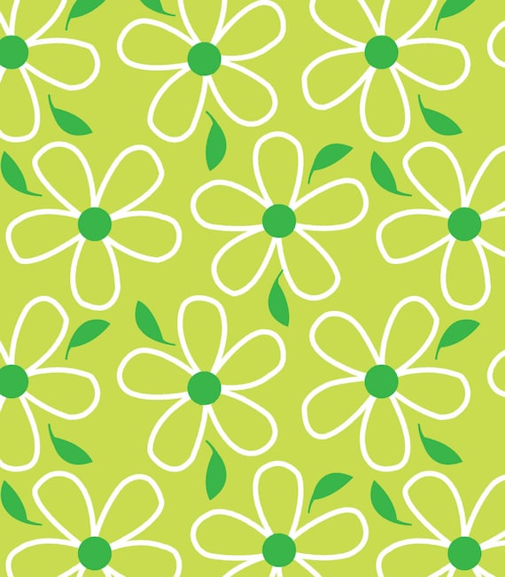 Green Flower- Quilt Camp Collection
