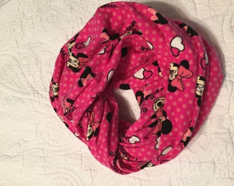 Mouse Rocks the Dots Infinity Scarf, pink polka dots