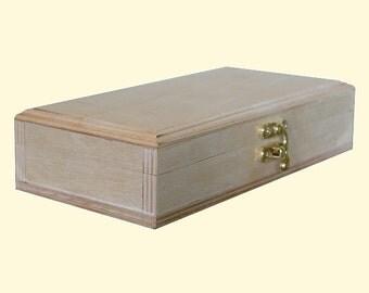Wood box from birch plywood . 190 х 80 х 40 mm. Decoupage Box.