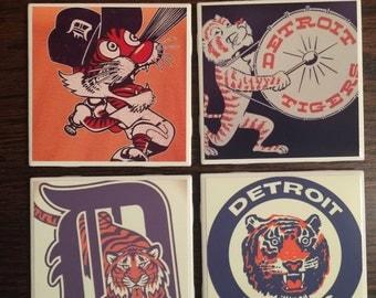 Set of 4 Detroit Tigers Coasters