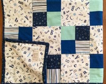 Blue Four Patch  Quilt