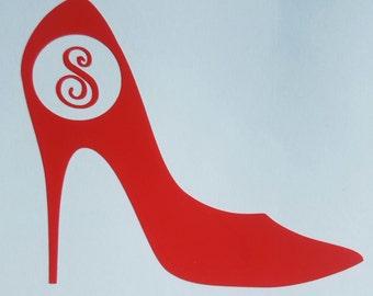 High Heel Shoe Yeti Decal