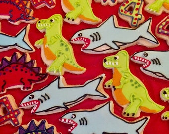 Dinosaur & Shark Cookies