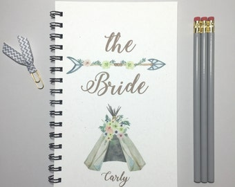 Bride Tribe, Bride Journal, Bride Notebook, Bullet Journal, The Bride, Bride, Gift for Bride, Bridal Shower Gift, Personalized Bride Gift