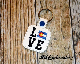 Colorado Love Key Chain - Vinyl keychain snap key fob