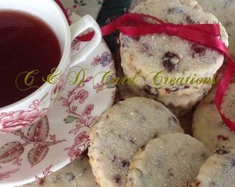 Shortbread Cookie Recipe Greeting Card, Cranberry Cherry Pistachio Cookie Recipe, Shortbread Cookies, Birthday Card