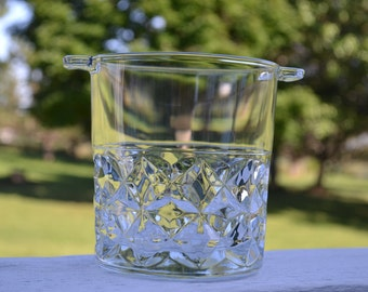 Adorable, Vintage Glass Ice Bucket, Made in France