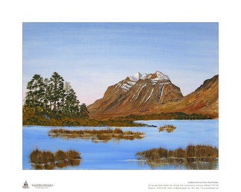 Limited edition giclee print (50), of my oil painting of Liathach, Torridon, Scottish Highlands, Size is 500mm x 400mm, Great gift