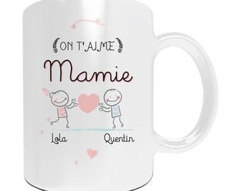 Mug with customize we love you Grandma