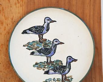 Plate, Jewerly Holder, Unique Present 18 cm diameter Handmade Pottery