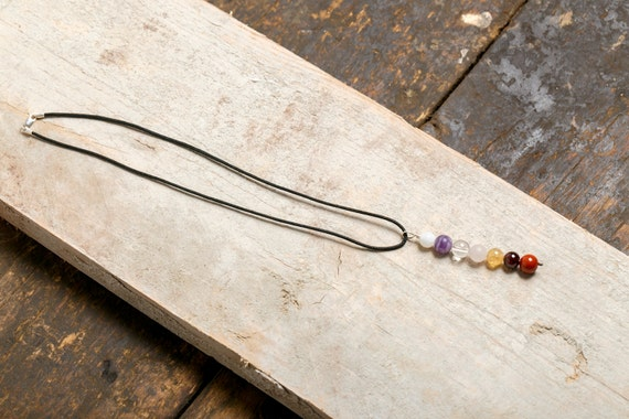 Collar for 7 chakras in natural stones