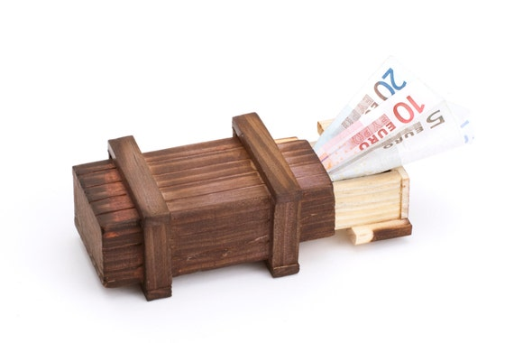 Magic Trick Box - Dark Wood – Little Gift Box for Jewellery and Money