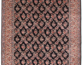 8 x 10 French Style Chinese Hand Knotted Fine Wool Rug, Blue, Rose, Ivory, All Over #10247