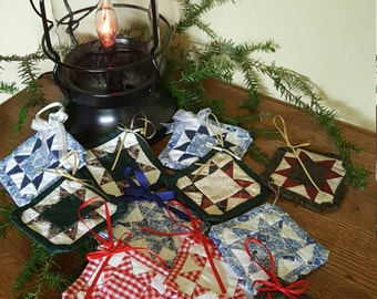 Patchwork Christmas Ornaments
