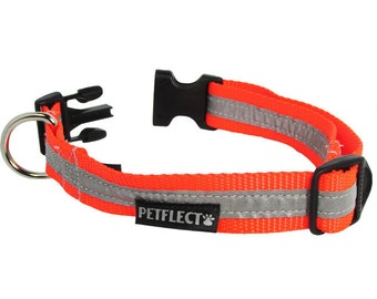 Orange Reflective Dog Collar
