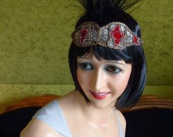 Original (!) Headpiece, Head Dress, Headdress, antique, 1920, 1920s