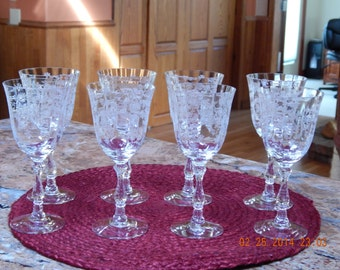 Vintage Fostoria Wine Goblets, Like New Only 2 Left...
