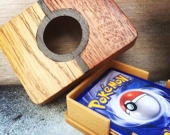Wooden Pokemon Card Case