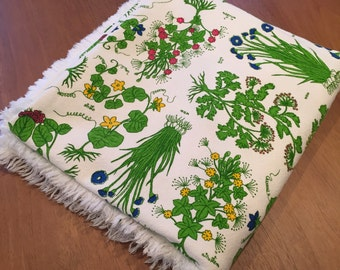 SALE: Floral Tablecloth with Vegetables